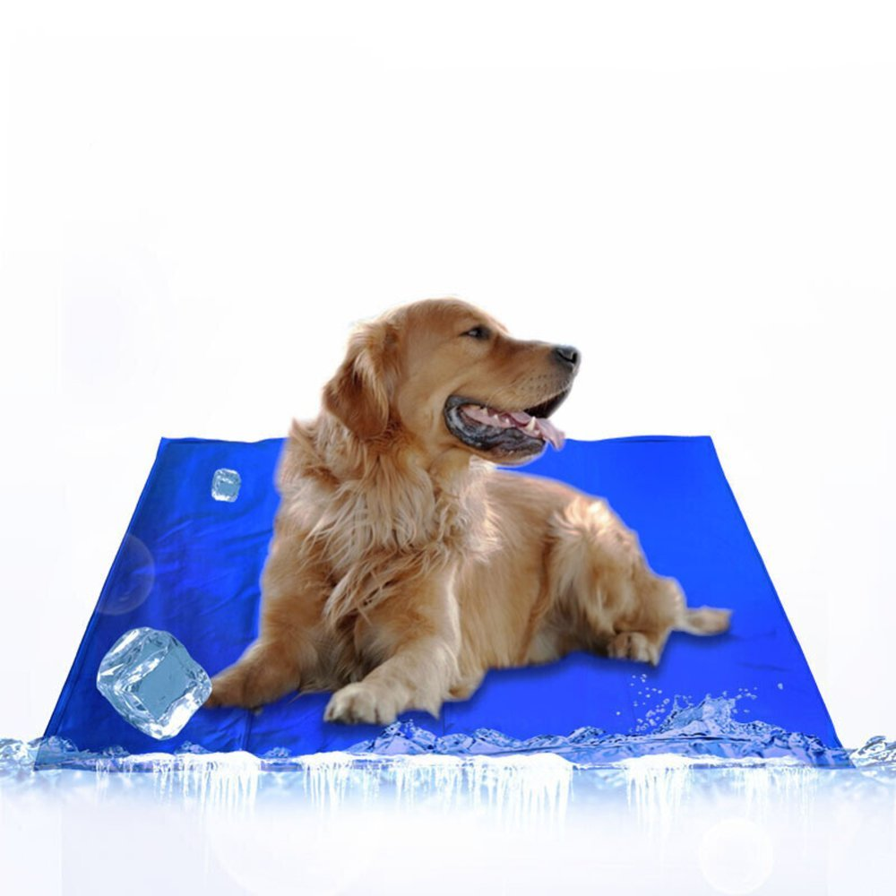 bluee 9196cm bluee 9196cm XULO Pet Dog Cat Cool Mat Self Cooling Gel Mat Pad Bed Mattress Heat Relief Non-Toxic Smart Choice Pet Cooling No More Over Heating Self Gel Pad Mattress Summer,bluee-91  96cm