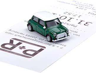 corpus delicti Magnetischer Parkscheinhalter für Das Armaturenbrett – Modellauto mit Magnet und Selbstklebender Haftscheibe – Kultauto Mini Cooper British Racing Green