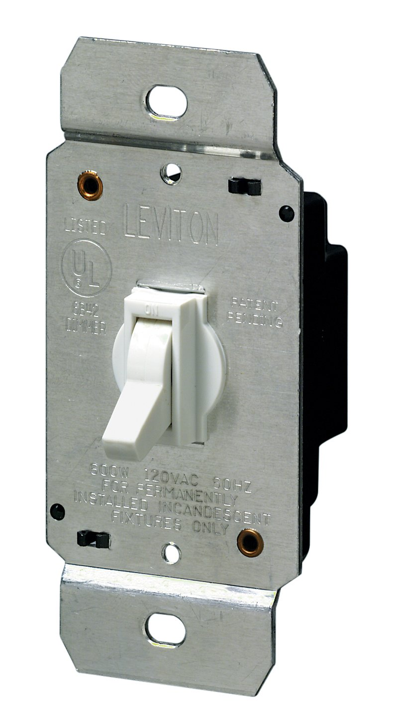Leviton 6641 w 600w incandescent toggle dimmer single pole white leviton 6641 w 600w incandescent toggle dimmer single pole white wall dimmer switches amazon sciox Choice Image