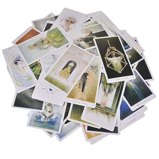 Cuttey 79 Piezas de Las Cartas del Tarot de la Fuente, Cartas de ...