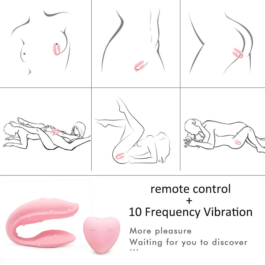 Wireless Remote U Shape Couple Love Stimulation Vibrating Toy with Strong Patterns Handsfree USB Waterproof Wand for Sore Back Foot Neck Leg T-Shirt