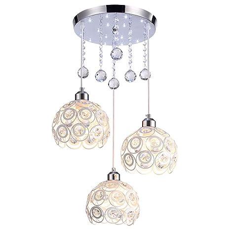 Lámpara de techo Comedor Vintage lámpara de techo 3 luces ...