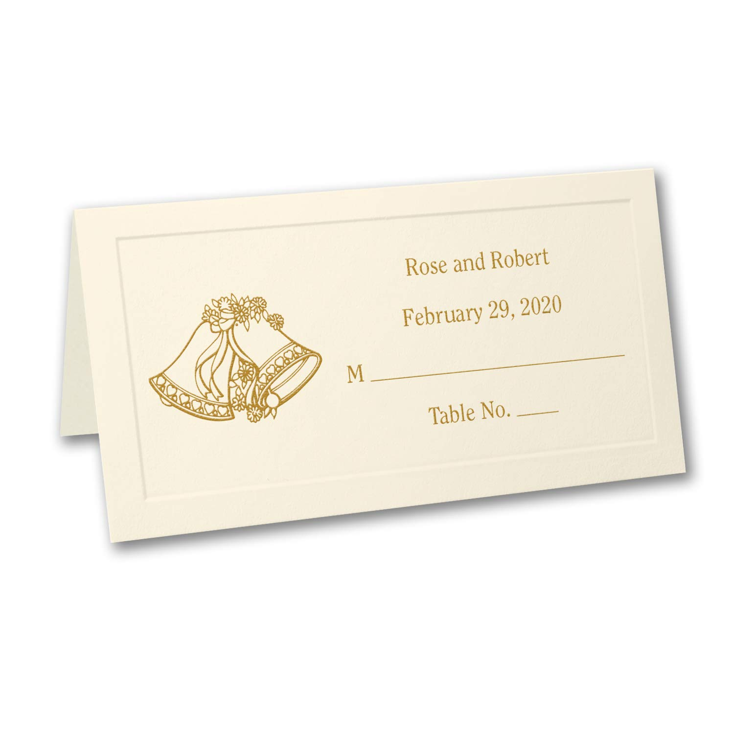175pk Ecru Vellum Place Card - Personalized-Place Cards