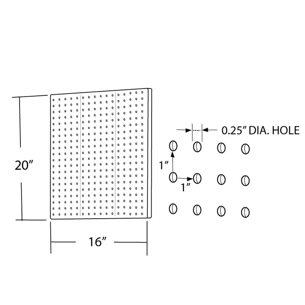 Azar 771620-CLR Pegboard 1-Sided Wall Panel, Clear Translucent Color, 2-Pack by Azar Displays (Image #2)