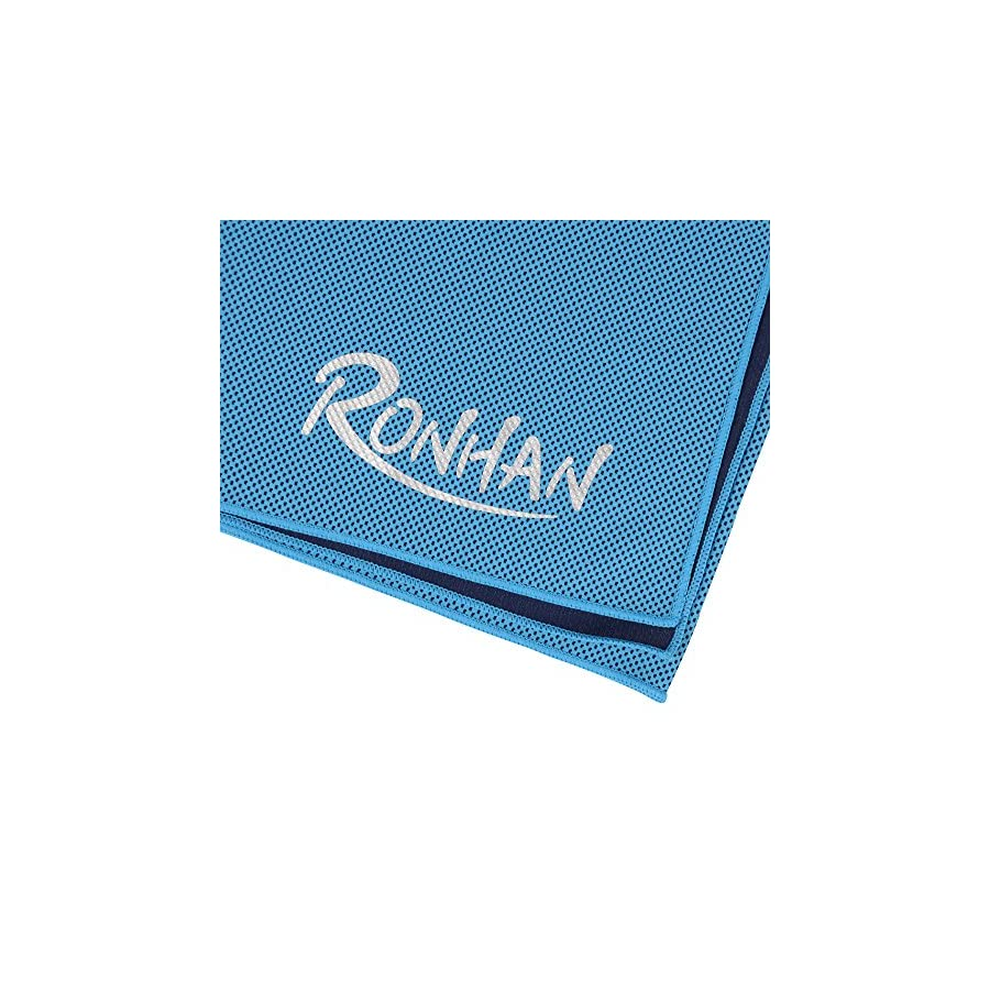 RONHAN Cooling Towel, Ice Towel, Soft Breathable Chilly Towel for Sports, Workout, Fitness, Gym, Running, Golf, Yoga, Pilates, Travel, Camping & More