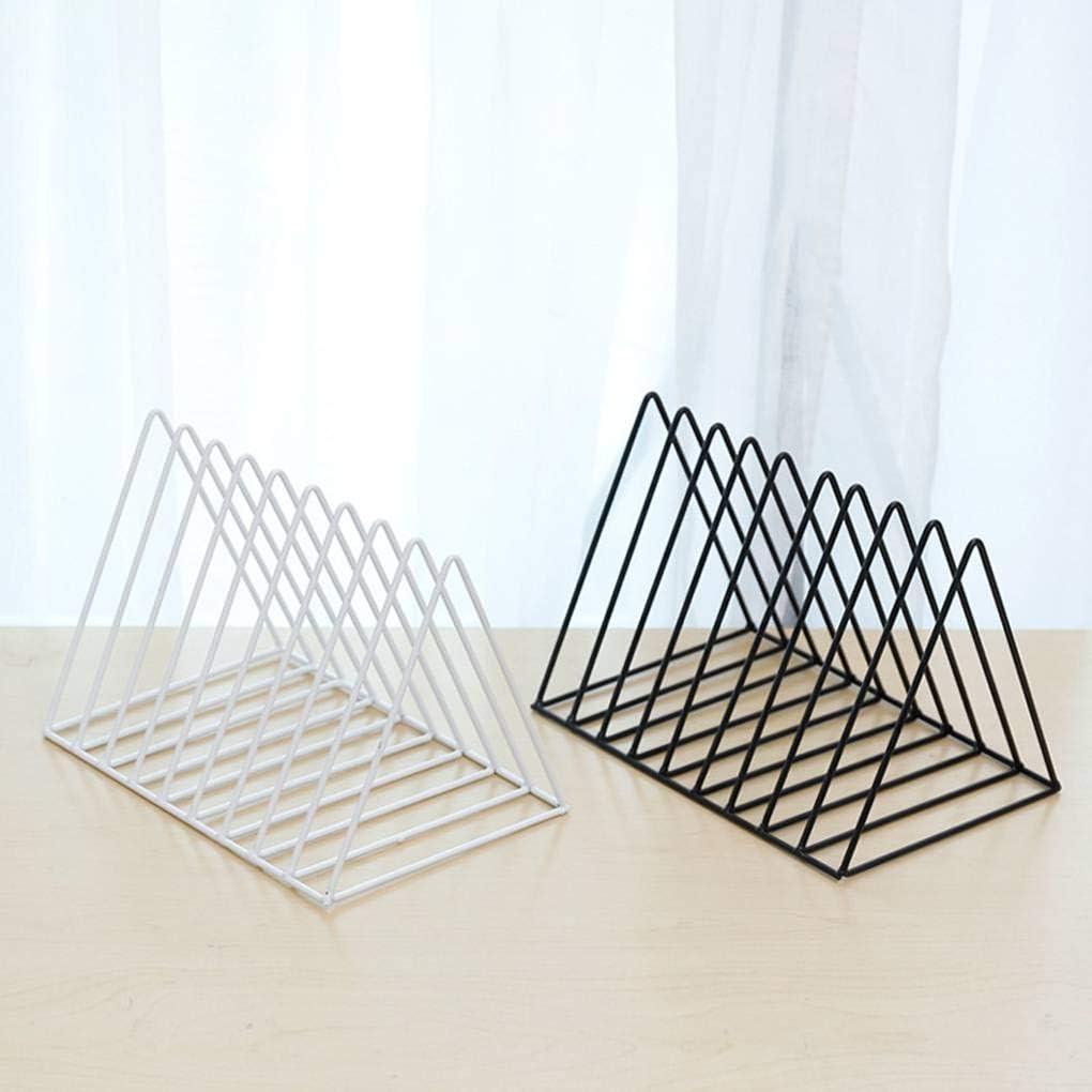 Zerama Triangular Iron Book Shelves Desktop Storage Rack Shelf File Magazine Storage Box Iron Bookcase