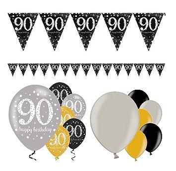 Decoración de cumpleaños Fiesta Fiesta Fiesta 90 cumpleaños ...