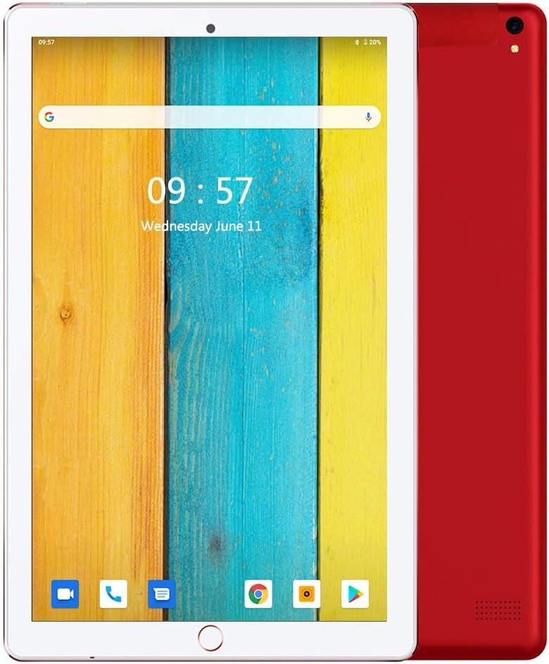Tablet 10.1 Pulgadas Android 9.0 Dobles SIM 4G LTE 32 GB de Memoria 3GB de RAM Tableta Procesador Quad-Core y Doble Cámara, GPS Bluetooth WiFi Soporte (Rojo): Amazon.es: Informática