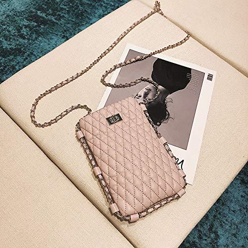 WSLMHH Sac de téléphone Portable Sac de la chaîne de la marée Femme Sauvage Sac à bandoulière Fille Petit Sac Messenger Mini Rose