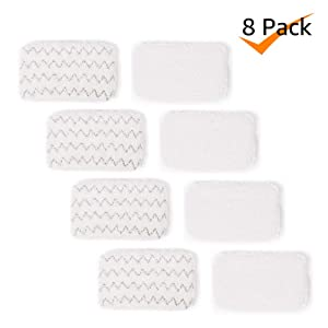 Bonus Life Steam Mop Pads 1252 for Bissell Symphony Steam Mop 1132 1132K 1132P 1132R 1132X 1530 1543 1543T 1632 1652, 8 Pack