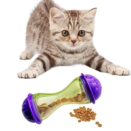 Tenlife - Dispensador de Comida para Mascotas, Gatos, Juguetes interactivos para Gatitos, Aumenta
