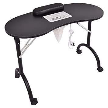 Manicure Table For Sale >> Amazon Com Giantex Folding Portable Vented Manicure Table Nail
