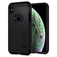 Spigen Tough Armor with Extreme Heavy Duty Protection and Air Cushion Technology Designed for Apple iPhone Xs Case (2018) / Designed for Apple iPhone X Case (2017) - Matte Black