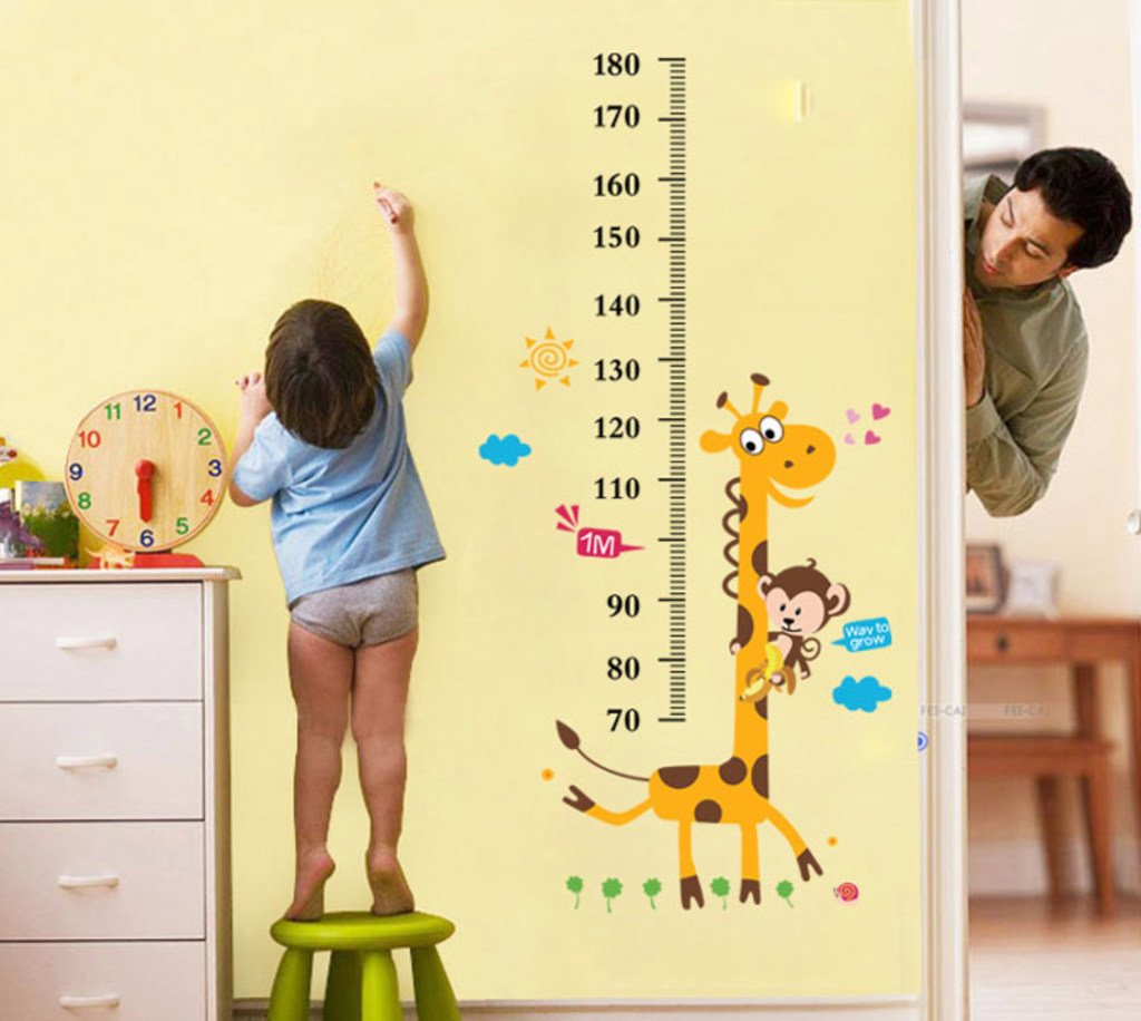 buy decals design kids giraffe height chart wall sticker pvc buy decals design kids giraffe height chart wall sticker pvc vinyl 50 cm x 70 cm online at low prices in india amazon in