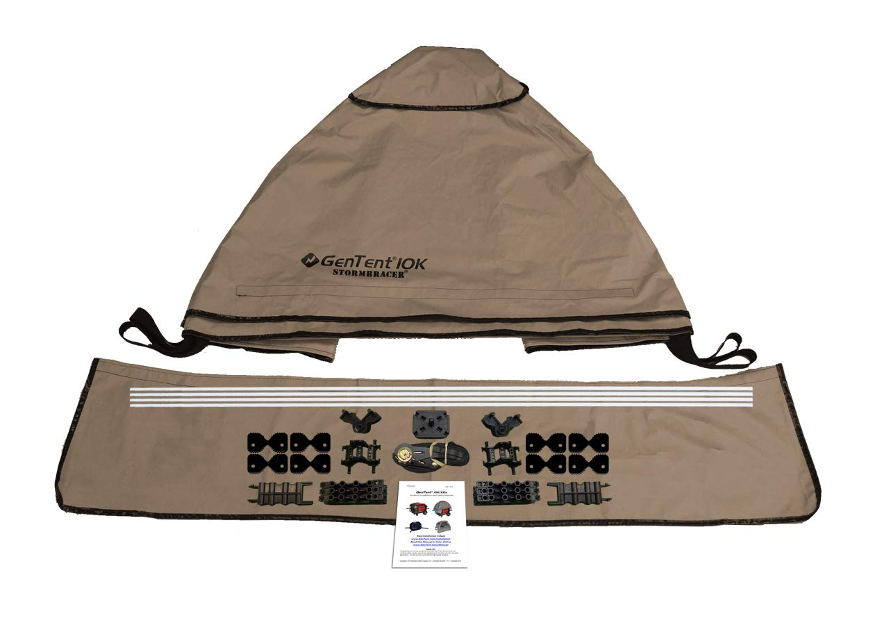 GenTent 10K Generator Tent Running Cover - XKU Kit (Standard, TanLight) - Compatible with 3000w+ Inverter Generators by GenTent Safety Canopies (Image #3)