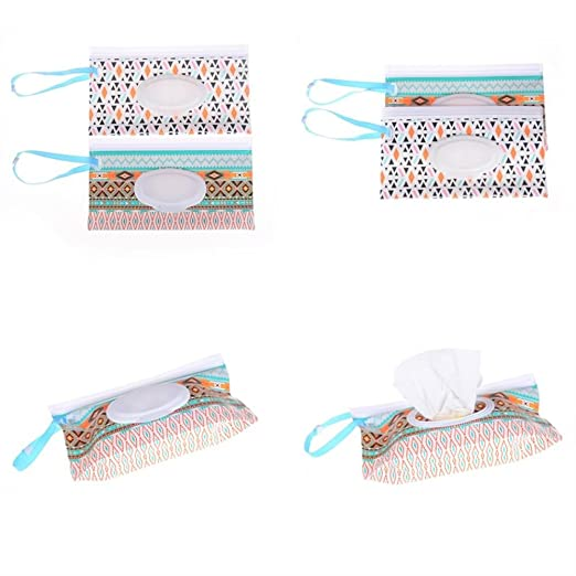 8 piezas de bolsa de pañales para bebé, dispensador de pañales recargables, pañales húmedos, con correa de embrague, contenedor de toallitas (no toallitas ...