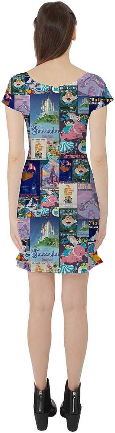 Fantasyland Disney Inspired Short Sleeve Flared Skater Dress