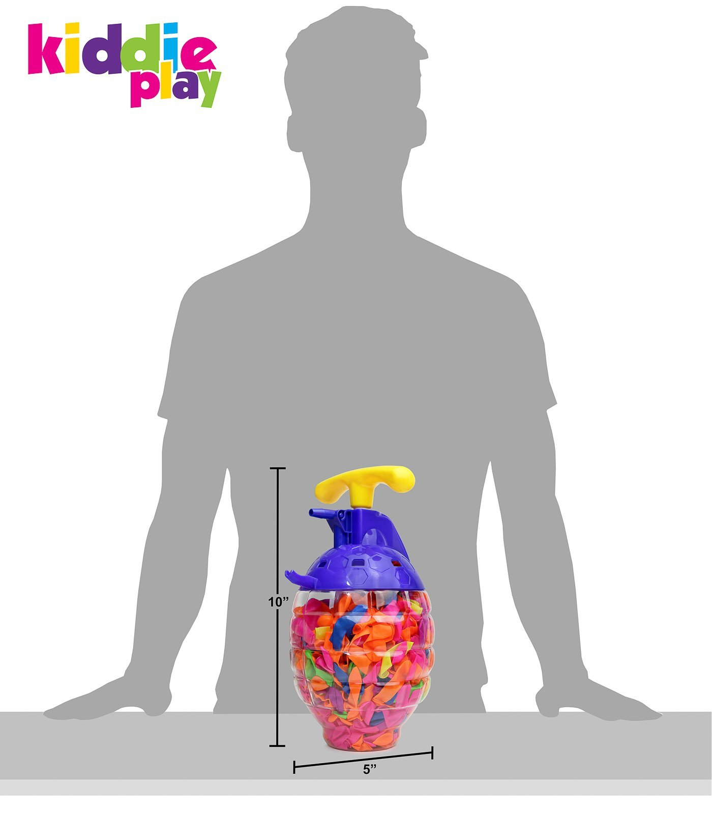 Kiddie Play Water Balloons for Kids with Filler Pump (500 Balloons) by Kiddie Play (Image #4)