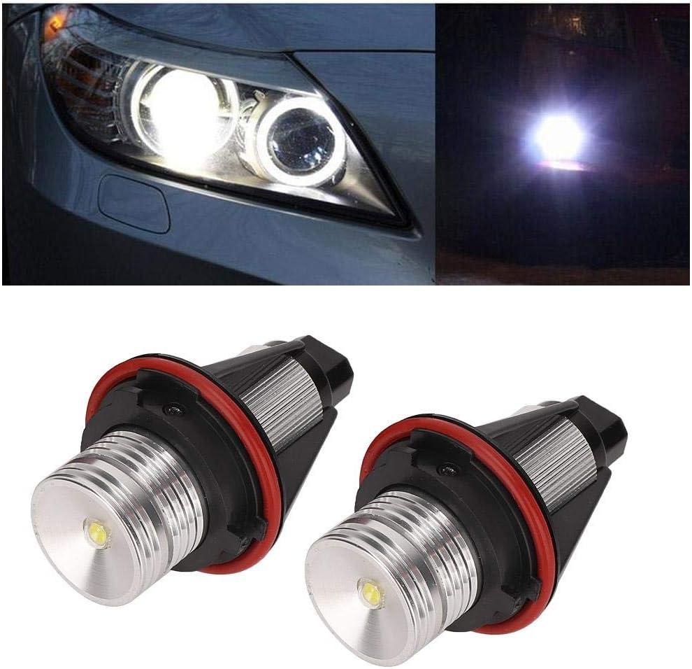 Phare Akozon Voiture Angel Eyes LED Phare Halo Anneau T/ête Ampoules Lampe 2pcs Fit pour E39 E53 E60 E63 E64 E65