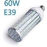 LEDコーンライト E39口金 LED高天井灯 600W相当 led トウモロコシ LED 電球 水銀ランプ 60W 水銀灯代替 超高輝度 昼白色