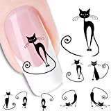 Malloom® Cat Water Transfer Slide Decal Sticker Nail Art Tips To Decor XF1442