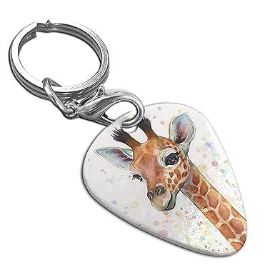 Amazon.com: Colorido colgante de púa de guitarra de jirafa ...