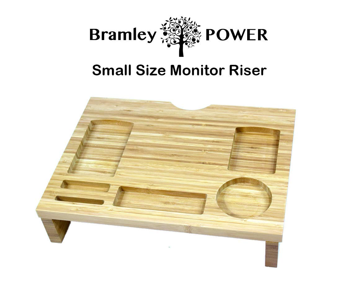 Bramley Power Bamboo Wood Monitor Riser Raiser Plinth Stand for Monitor Laptop Computer TV (Original) BP-BAM02A