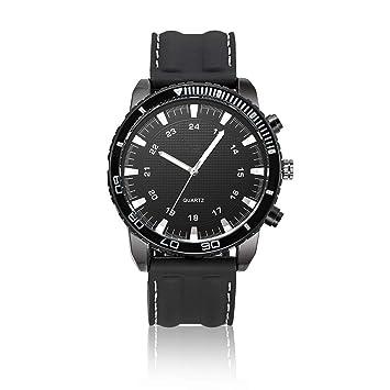 c95f1c732cd3 PZXY Reloj de Cuarzo Relojes de Silicona para Hombres Relojes de Espejo de plexiglás  Relojes de Cuarzo de aleació  Amazon.es  Hogar