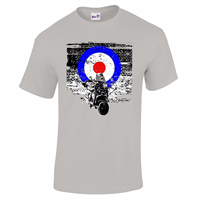 Mens Lambretta All Over Print Target Retro MOD Scooter T Shirt Sizes S to 4XL