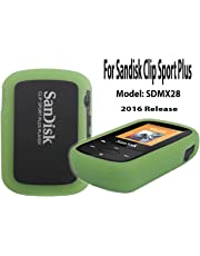 Silicone Case for SanDisk Clip Sport Plus Bluetooth MP3 Player (Model SDMX28) 2016 Release, Green