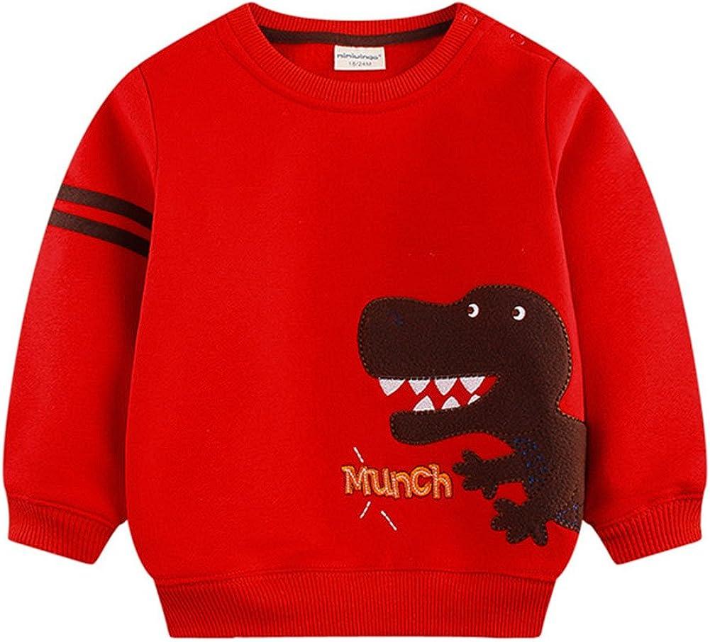 Cotton Cute Sweater Long Sleeve T-Shirt Fleece Thicken Jumper Hoodies Winter Clothes Juleya Baby Boy Cartoon Sweatershirt