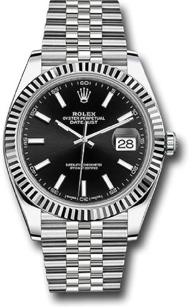 Rolex Oyster Perpetual Datejust Black Dial Jubilee Men's Watch 126334BKSJ