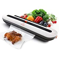 White Dolphin Vacuum Sealer Machine for Food Storage with 10 Heat Seal Bags (Gray)