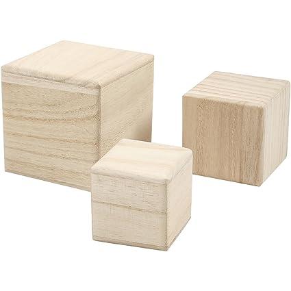 Cubi In Legno.Cubi Di Legno Misura 5 6 8 Cm Paulownia 3pz