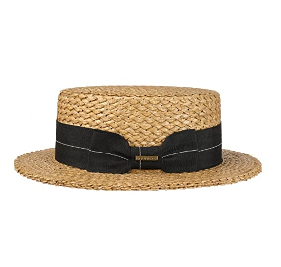 ba524d00 Stetson Vintage Straw Boater & Black Band (X-Large 61cm): Amazon.co ...