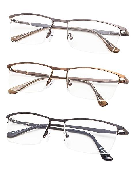 b4b9c98bb32 Amazon.com  Half-Rim Reading Glasses 3-Pack with Spring Hinges+3.0 ...