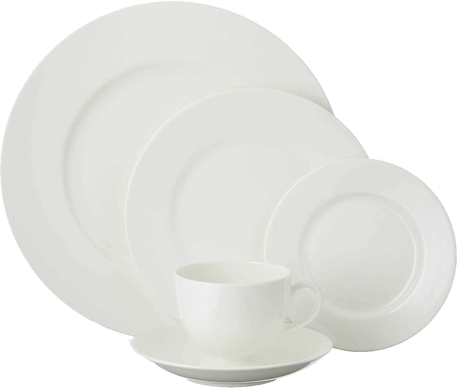 Wedgwood White 5-Piece Place Setting 5 pc placesetting