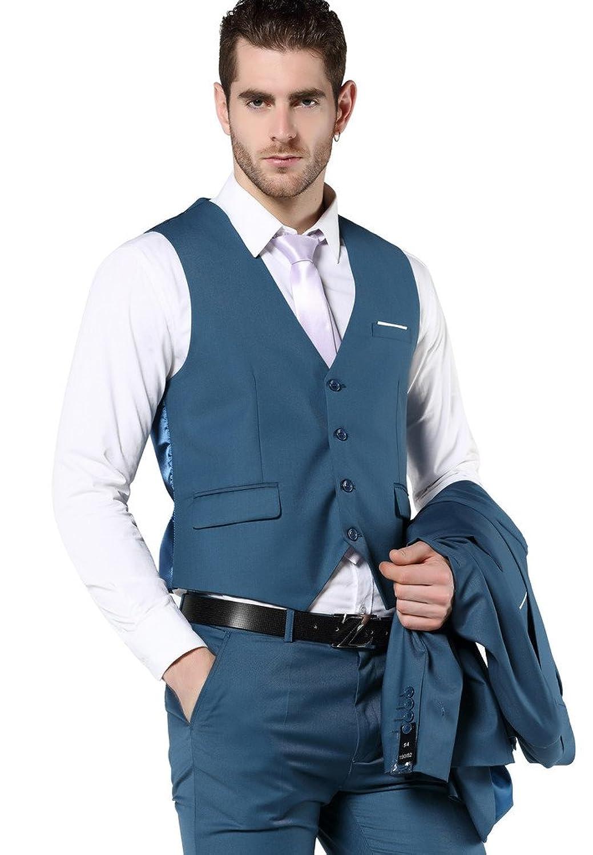 MOGU Men\'s Slim Fit 3 Piece Dress Suits Prom Dress Suit Set at ...
