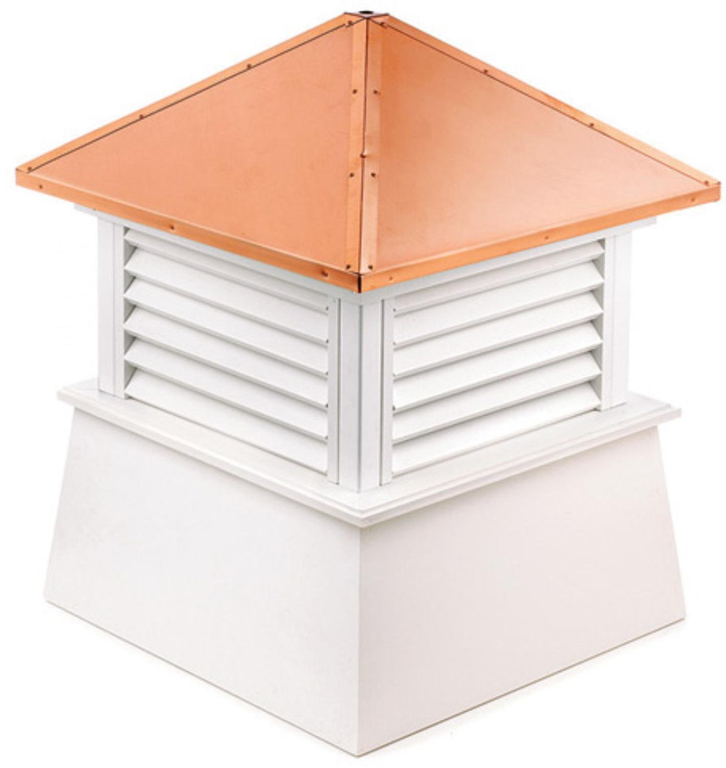 72'' Handcrafted ''Manchester'' Copper Roof Vinyl Cupola