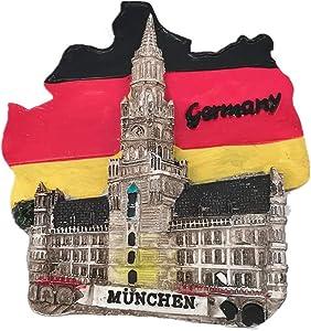 Munich Germany 3D Fridge Magnet Souvenir Gift Home & Kitchen Decoration Magnetic Sticker Munich Germany Refrigerator Magnet