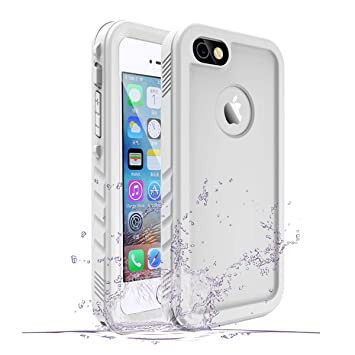 SPORTLINK Funda Impermeable iPhone Waterproof IP68 Carcasa Resistente al Agua con Protector de Pantalla Incorporado para Apple iPhone SE/iPhone 5s / ...