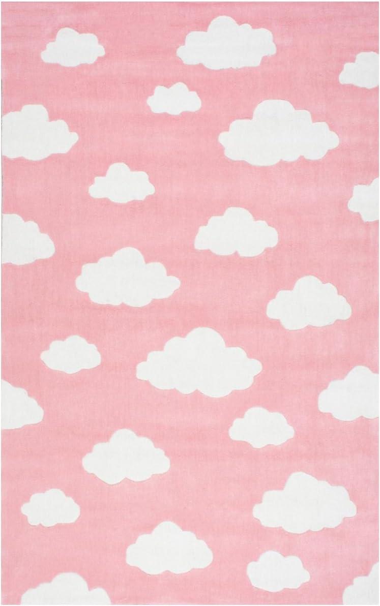 Nuloom 7 6 x 9 6 Cloudy Sachiko Rug in Pink