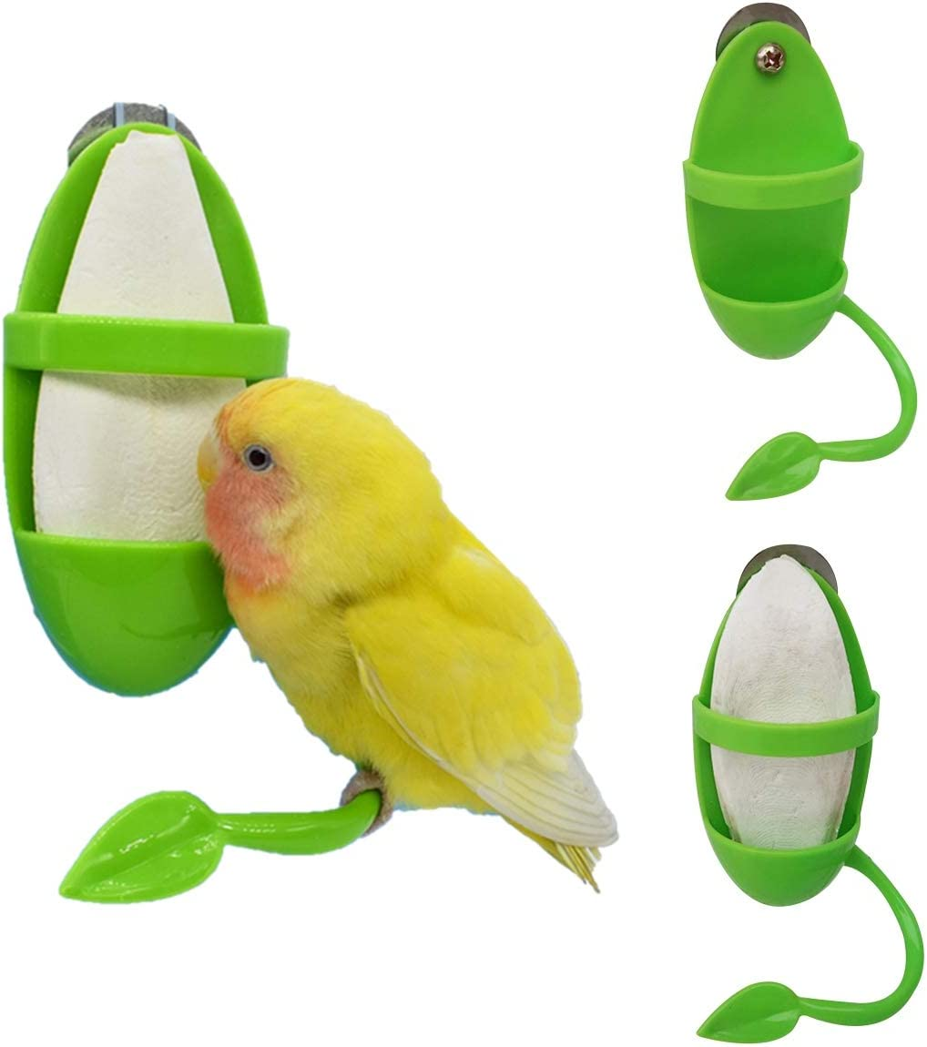 WUSIO 2PCS Conure Macaws Cockatiel with Standing Rack Hanging Food Pet Bird Supplies Fruit Vegetable Holder Parrot Feeder Food Container