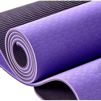 ZJ Estera de ejercicio de yoga TPE anti-desgarro gruesa de 6 ...