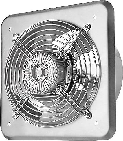 MKK Axial Ventilator /Ø 250 mm schwarz Abluft Zuluft Rohrl/üfter Radial Rohr L/üfter Absaugl/üfter Industriel/üfter Absaugung