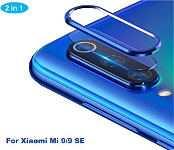 NOKOER Protector de Lente de Cámara para Xiaomi Mi 9 SE, [2 en 1] Anillo Protector