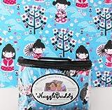 "'NUGGLEBUDDY Microwaveable Moist Heat & Aromatherapy Organic Rice Pack.""Kimono"" Fabric with JAPANESE CHERRY BLOSSOM Aromatherapy."