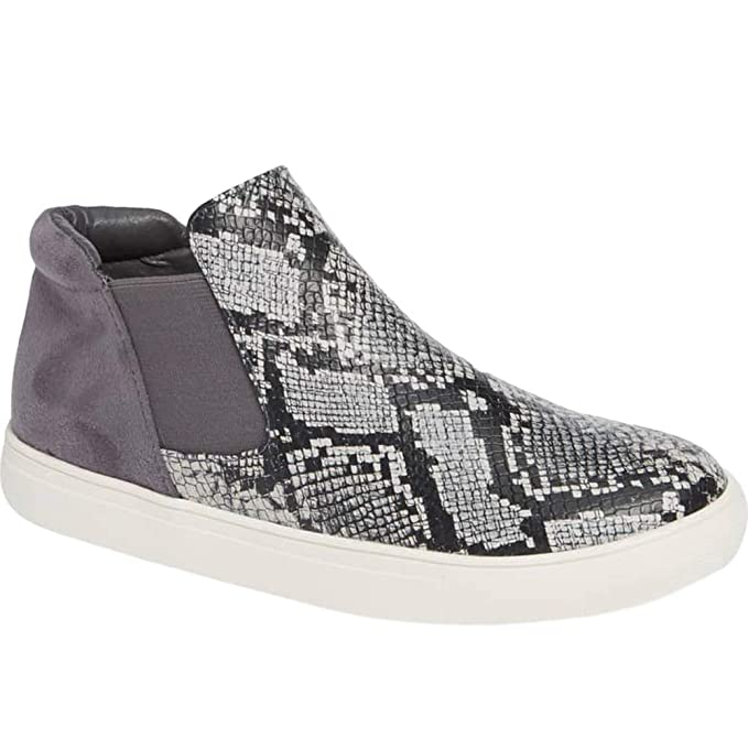 248594bb3e7 Amazon.com  Womens High Top Platform Sneakers Slip on Chelsea ...