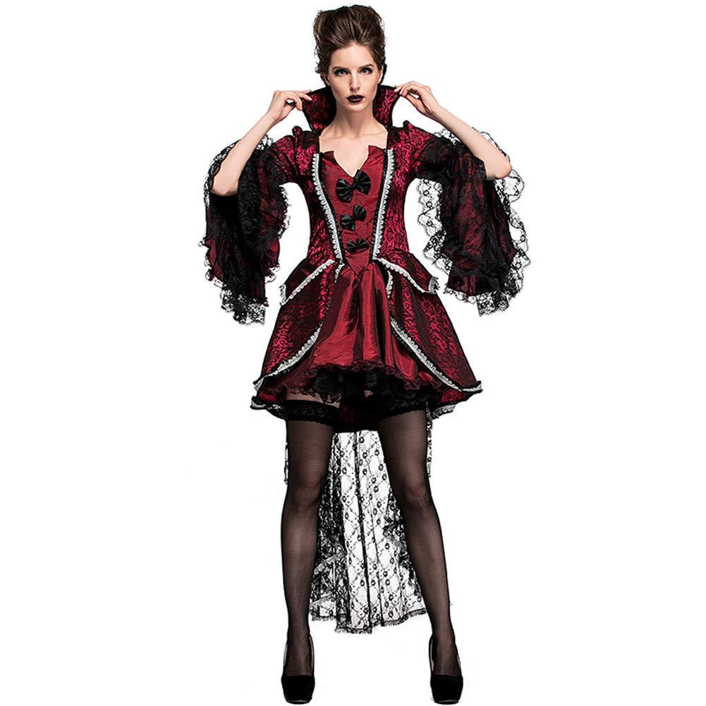 MYLEDI Halloween Vampir Kostüm - Vintage Rollenspiel Dress Up,ROT,L