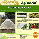Agfabric Warm Worth Floating Row Cover & Plant Blanket, 0.55oz Fabric of 10x15ft for Frost Protection & Harsh Weather Resistance, Tan